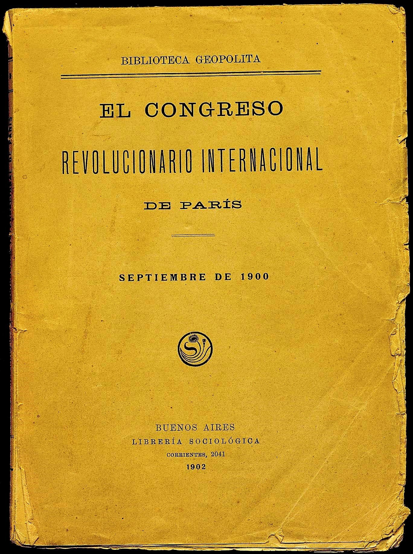 Congreso revolucionario internacional de París. Septiembre 1900