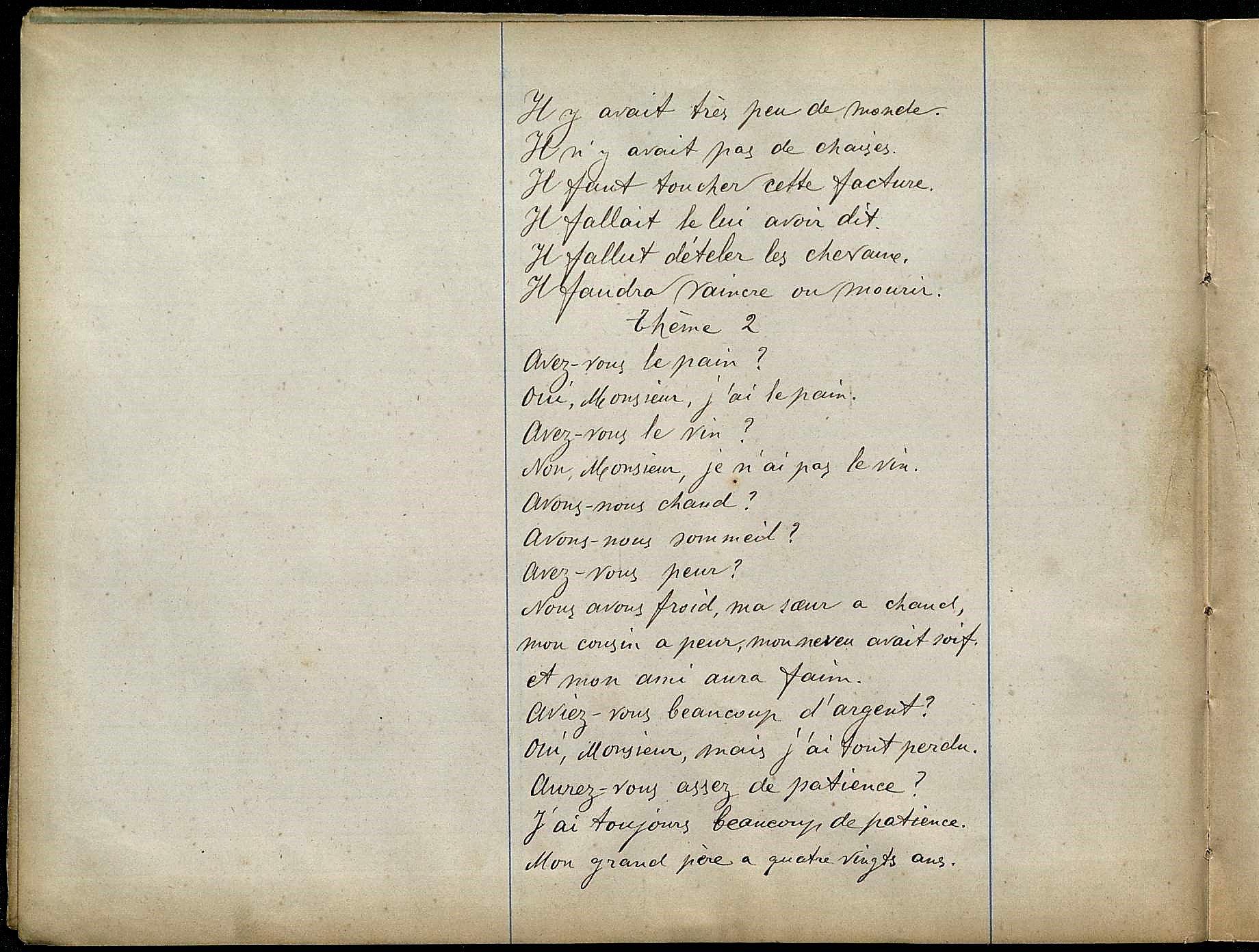 Llibreta per a l'estudi d'idiomes (II). 1892-1893