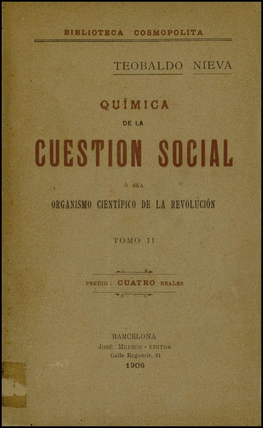 Química de la cuestión social : Organismo científico de la revolución (vol II)