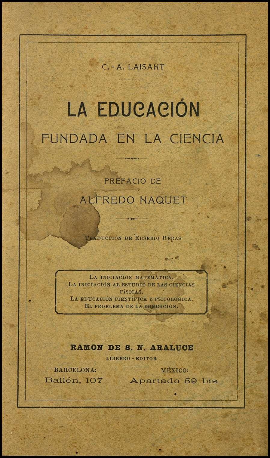 La educación fundada en la ciencia