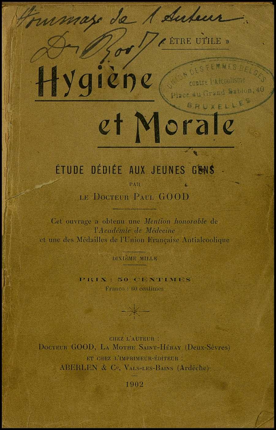 Higiène et morale. Étude dédiée aux jeunes gens